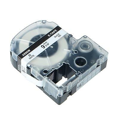 SS9KW Compatible for EPSON LW300 LW400 9mm Black on White Label Tape 2PK