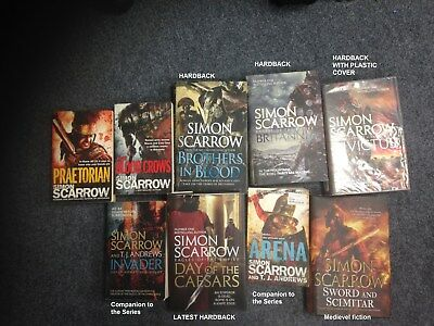 Eagles of the Empire books 11-15 + 2 companions of the series Simon Scarrow +1