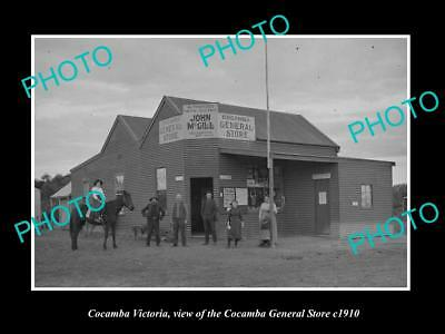 OLD LARGE HISTORIC PHOTO OF COCAMBA VICTORIA, THE McGILL GENERAL STORE c1910