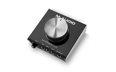 M-AUDIO M-TRACK HUB USB Monitoring Studio Interface With Built In 3-Port Hub DJ