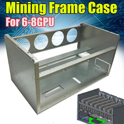Open Air Frame Mining Miner Rig Stackable Case For 6 8 GPU ETH BTC Ethereum