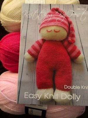 Easy knit dolly knitting kit