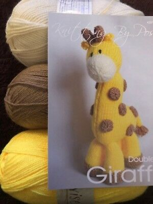 Giraffe Toy knitting kit