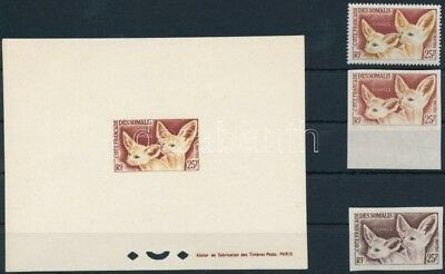 Djibouti (Somali Coast) stamp Desert Fox perf and imperf stamps MNH,Imp WS232966