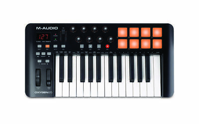 M Audio Oxygen 25 Mk4 USB MIDI Keyboard Pad Controller With Ableton Live Lite