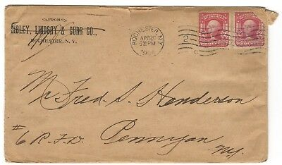 Cover 1904 Rochester NY Sibley Lindsay & Co Corner Card Advertising