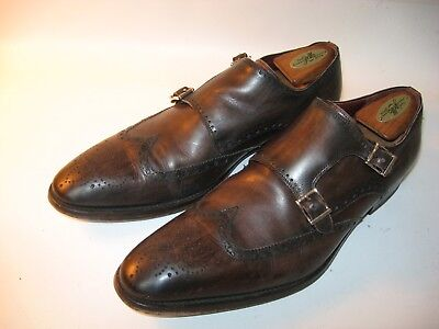 2b6eefb32d7 Magnanni Men s Brown Leather Double Monk Strap Wing Tip Dress Shoes - US 10  M