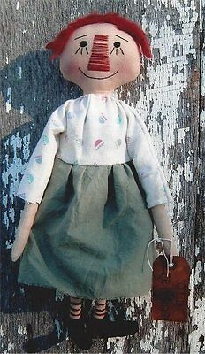 PATTERN Primitive Raggedy Ann Annie Doll UNCUT OOP Butterfly Primitives RARE