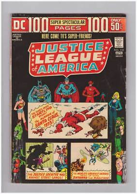 Justice League of America # 110  100 page issue grade 3.5 scarce book !!