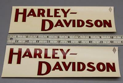 A PAIR OF VINTAGE 1925 HARLEY DAVIDSON GAS TANK DECALS - BOB SPECK 1960s
