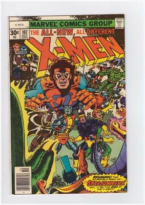 X-Men # 107  The Saga of the Starjammers !  grade 8.5 scarce book !