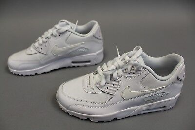 NIKE AIR MAX 90 Leather Grade School Running Shoes White