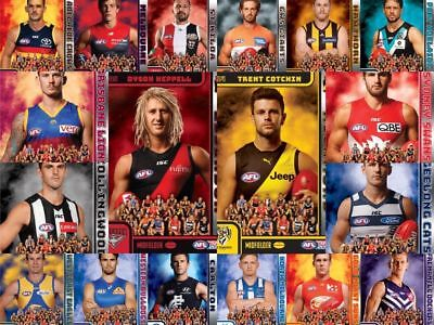 2018 Teamcoach Captain Cards Herald Sun - SINGLE or FULL SET of 18 CARDS