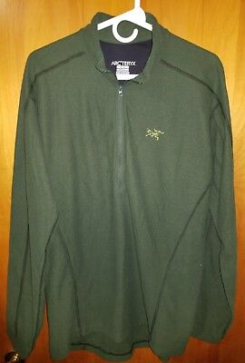 ARCTERYX ARC'TERYX Mens Large Half Zip Pullover Outdoor Fleece Jacket Green