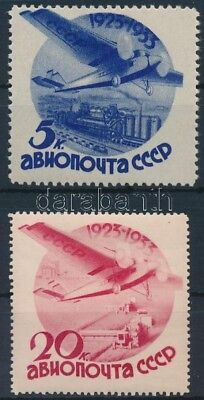 Cosovo stamp Airmail 2 values Hinged 1934 Mi 462, 464  Aviation WS221271