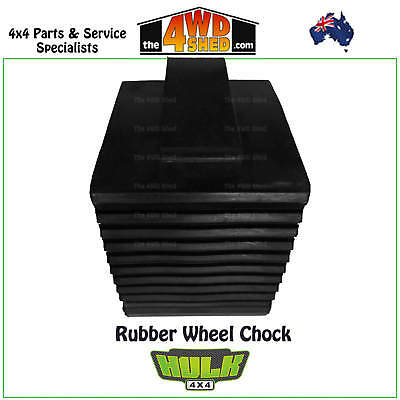 Hulk 4x4 Rubber Wheel Chock - Solid Rubber with a Handle