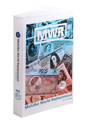 Mehilba World Replacement Catalog, 2nd Edition, 2018, Paperback, Banknotes, MWR