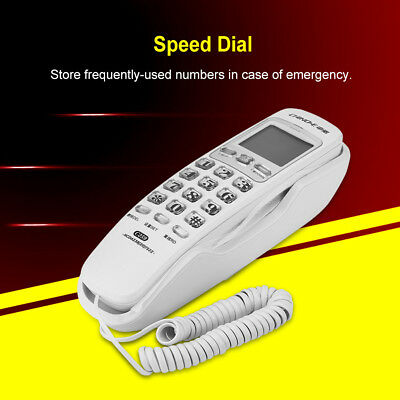 Landline Phone Corded Home Office Desk Speed Dial Wall Telephone W/ Call Display