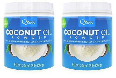 Quest Nutrition Coconut Oil Powder, 1.25 lb (20 oz) - 2 PACK = 112 Servings