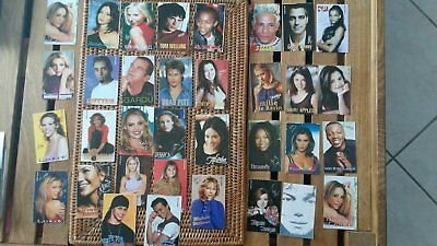 RARE annees 90 lot 34 CARTES STAR MAGAZINE:LORIE,MARIAH CAREY,BRITNEY SPEARS...
