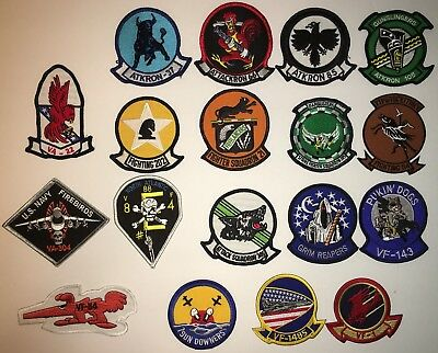 Us Navy Color Fighter And Attack Squadrons Patches Repro New (B11)