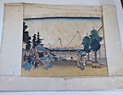 Antique Japanese Woodblock Print Engraving - Signed