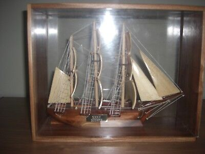 Pitcairn Island Carvings- HMS Bounty, Pitcairn Long-Boat, Bowl and Four Dolphins