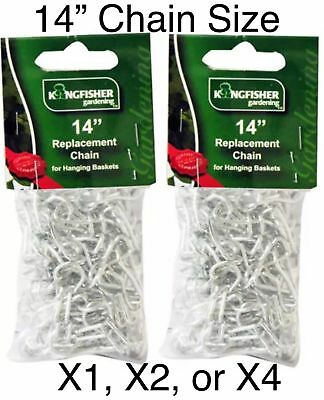 Garden Hanging Basket  Metal Chains Easy Fit Replacement Silver Hanger X1,X2,X4