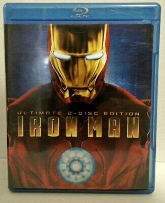 Iron Man (Blu-ray Disc, 2008, 2-Disc Set, Canadian Ultimate Edition)