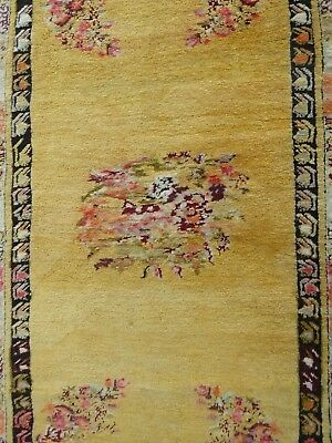 "1880s ANTIQUE COLLECTIBLE""GHIORDES/GHORDES""HANDMADE RUG 3ft X 5ft *FREE SHIPPING"