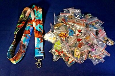 Disney World 25 Pin Trading Lot Lanyard Starter Moana Maui Hei Hei Pua Princess