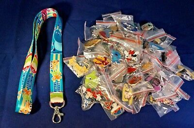 Disney World 25 Pin Trading Lot Lanyard Starter Monsters Inc University Sully