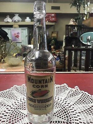 WW Cooper Marion NC North Carolina Mountain Corn Whiskey Bottle NR