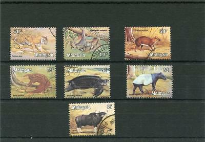 Malaysia. 7 -- Used Stamps Featuring Animals.also $1/$2/$5