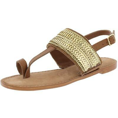6fbcda1b0c8 Naughty Monkey Womens Petra Leather Sequined Slingback Sandals Shoes BHFO  3353