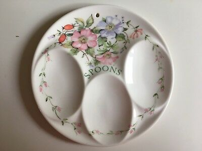 Vintage Rare Taunton Vale Floral Spoon Rest Melamine Shabby Chic VGC