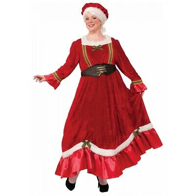 Mrs Claus Costume Adult Santa Outfit Christmas Fancy Dress