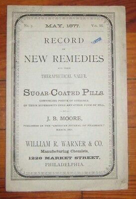1877 Record of New Remedies and Their Therapeutical Value, Sugar Coated Pills