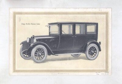 1924 Dodge Brothers Type A Sedan Business Coupe Mailer Brochure Poster wz2849