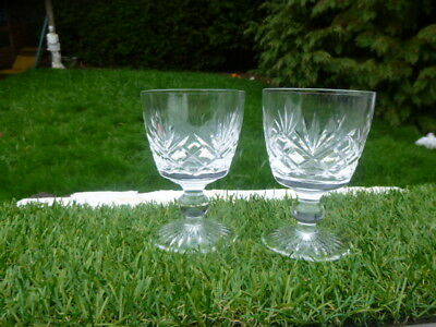 2  Stuart  Glass  Crystal Glasses * Lovely Condition * Lovely Clear Ring To Them