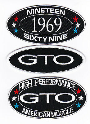 1969 Pontiac Gto Sew/iron On Patch Embroidered Badge Emblem American Muscle