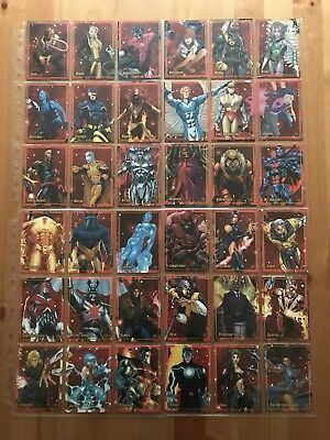Marvel Figure Factory Series 2 Complete Set Of 64 Trading Cards