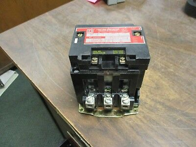 Square D Lighting Contactor 8903 SPG 2 60A 120V Coil Used