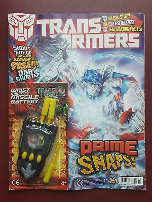 Transformers UK Titan Comic #10 - March 2010 Includes Free Gift - Dart Shooter