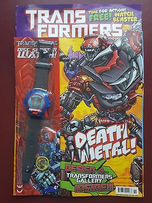 Transformers UK Titan Comic #11 - April 2010 Includes Free Gift - Watch