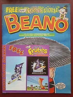 The Beano Comic No.3079 July 2001 - Includes Free Gift - Frubes Stickers #B1990