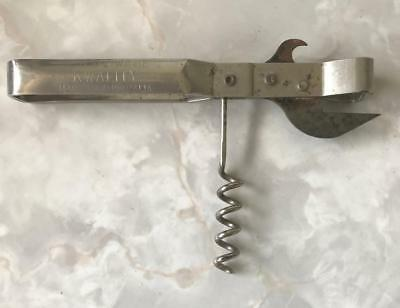 ** VINTAGE ** KWALITY by PERSINWARE CORKSCREW and CAN OPENER