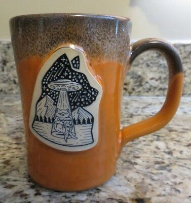 Deneen Pottery Illustrator Series Mug Cup UFO Pizza Cat Scotty Russell DWCC