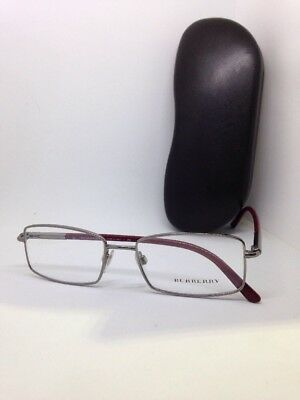 9322acc8c7 NEW Authentic BURBERRY B 1269 1159 Silver Burgundy Rx Eyeglasses size 54mm !