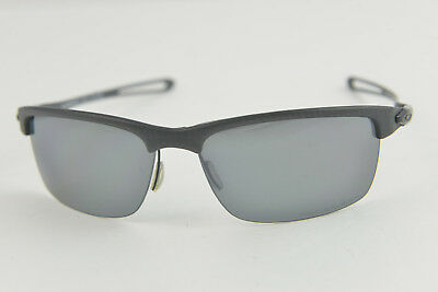 003b9955589 Pre-owned Oakley Carbon Blade OO9174-03 Matte Carbon Black Iridium Polarized